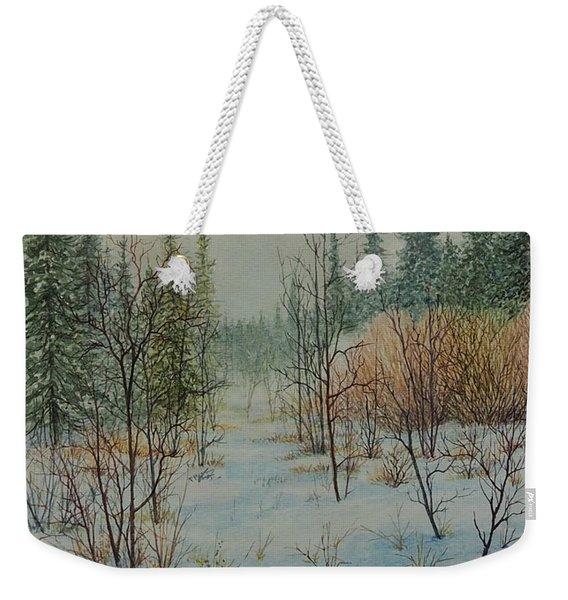Winter Trail Alberta Weekender Tote Bag