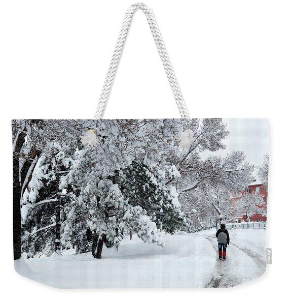 Winter Trekking-3 Weekender Tote Bag