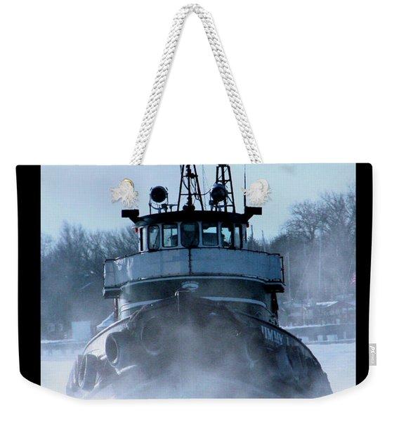 Winter Tug Weekender Tote Bag