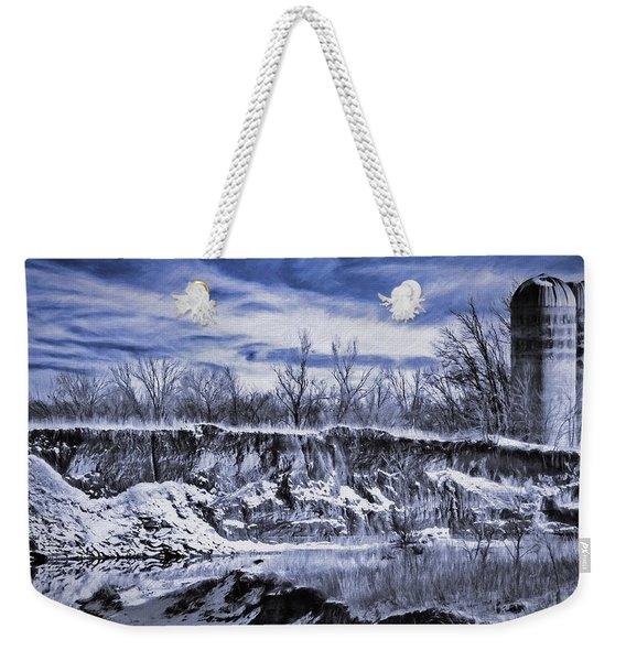 Winter Twin Silos Weekender Tote Bag