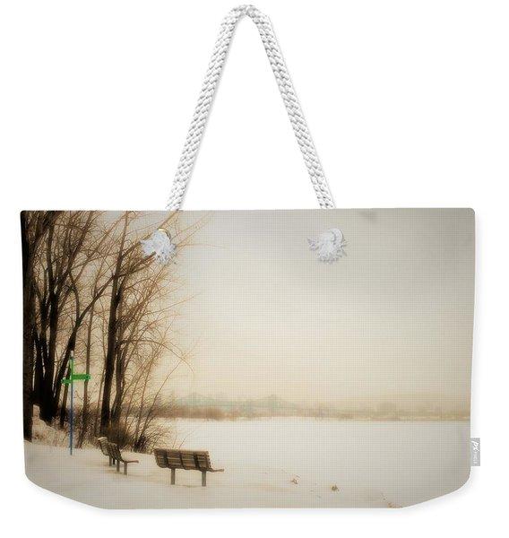 Winter View Over Montreal Weekender Tote Bag