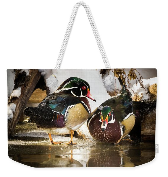 Winter Visitors - Wood Ducks Weekender Tote Bag