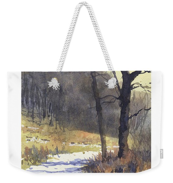 Winter Walk Weekender Tote Bag