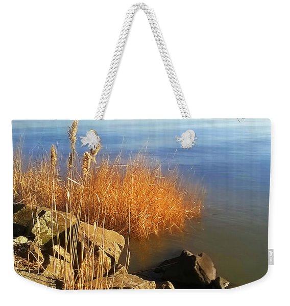 Winter Water Weekender Tote Bag