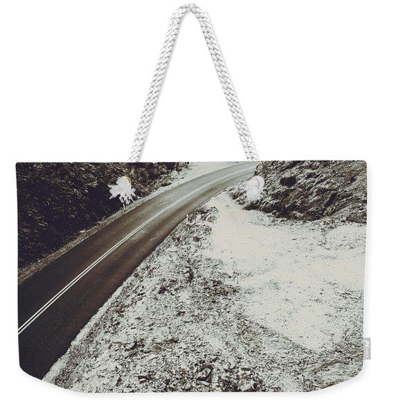 Winter Weather Road Weekender Tote Bag