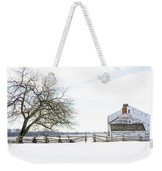 Winter White Out Weekender Tote Bag