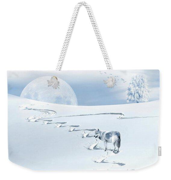 Winter Wonderland - Wolf Weekender Tote Bag