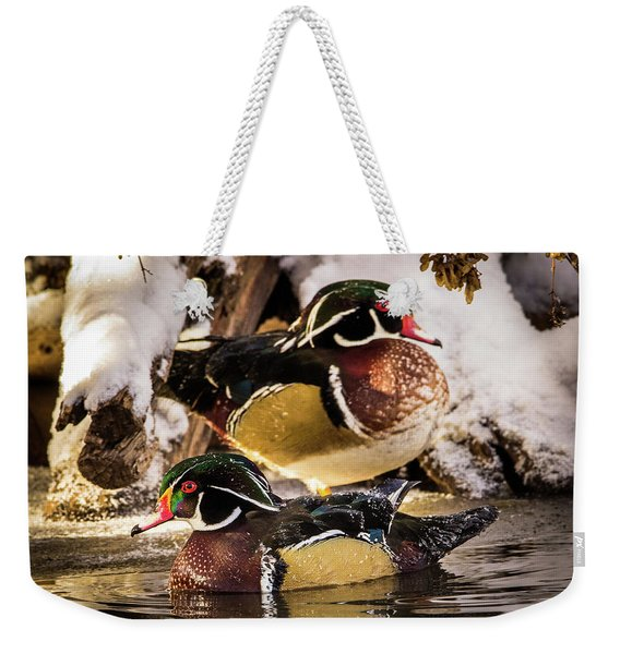 Wintering Wood Ducks Weekender Tote Bag