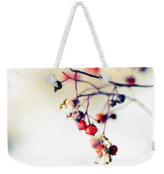Winter's Berries Weekender Tote Bag