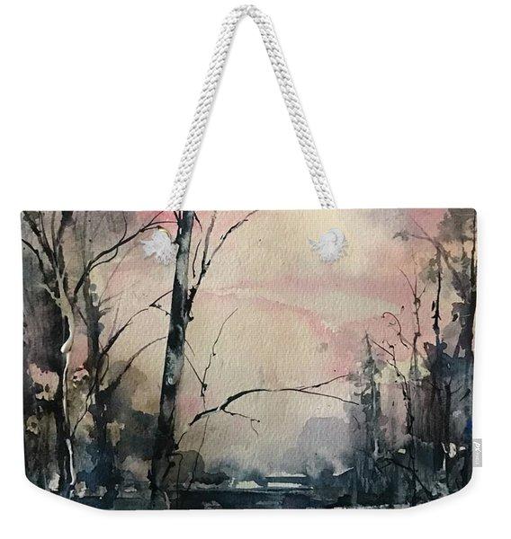 Winter's Blush Weekender Tote Bag