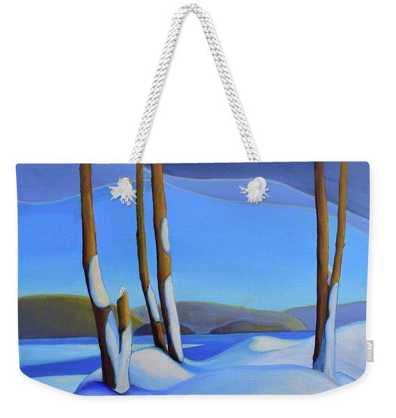 Winter's Calm Weekender Tote Bag