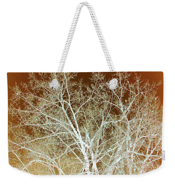 Weekender Tote Bag featuring the photograph Winter's Dance by Cris Fulton