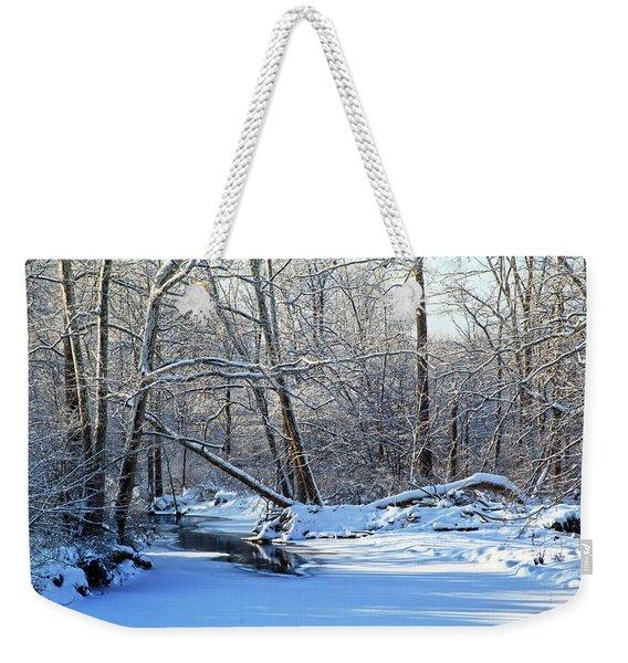 Winters Edge Weekender Tote Bag