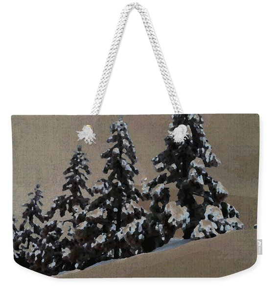 Winters Eve Weekender Tote Bag