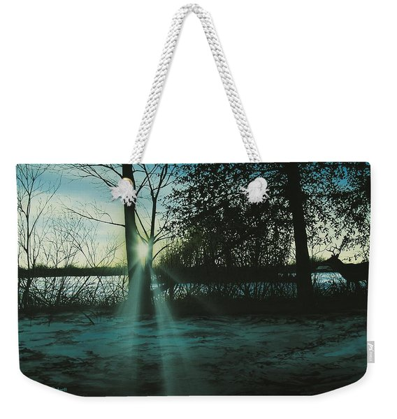 Winter's Evening Scout Weekender Tote Bag