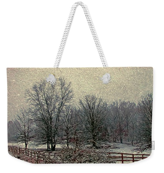 Winter's First Snowfall Weekender Tote Bag