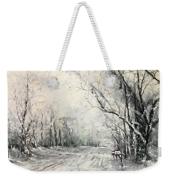 Dee Street Series Winter Wonderland Weekender Tote Bag