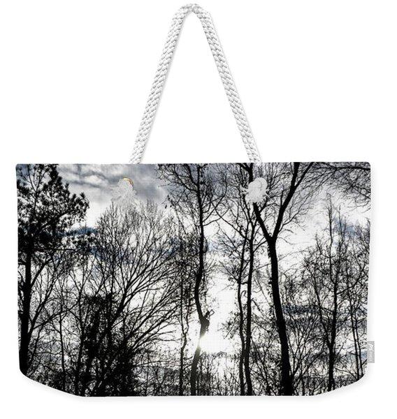 Winter's Mystic Horizon Weekender Tote Bag