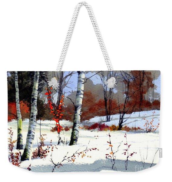 Wintertime Painting Weekender Tote Bag