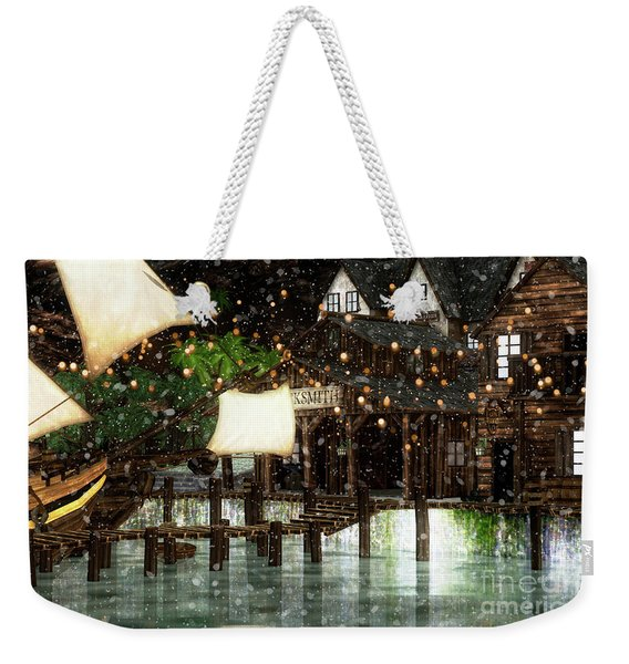 Wintery Inn Weekender Tote Bag
