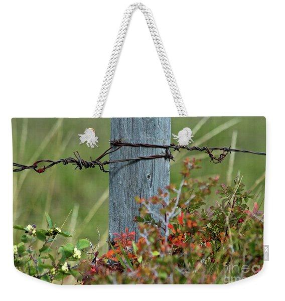 Wire Meets Weekender Tote Bag
