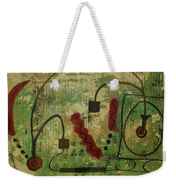 Wired Composition Enigma Weekender Tote Bag