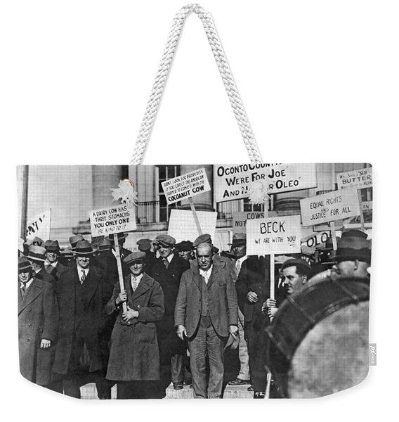 Wisconsin Oleo Protest Weekender Tote Bag