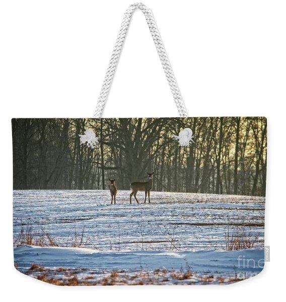 Wisconsin Whitetail Deer Weekender Tote Bag