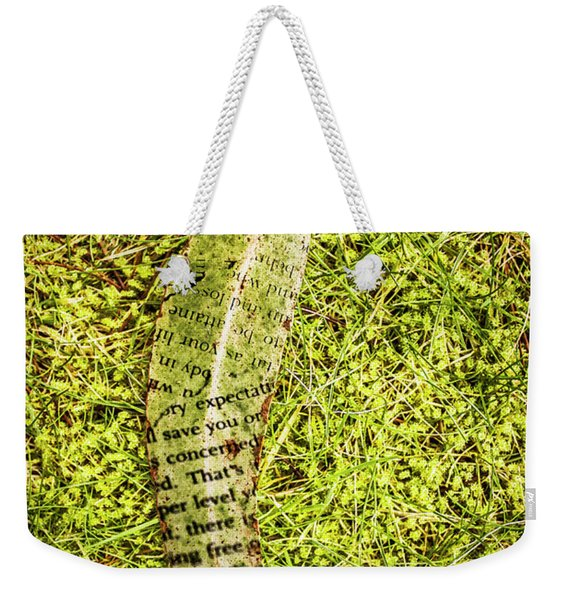 Wisdom In Nature Weekender Tote Bag