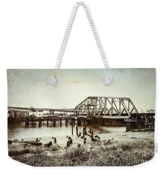 Wishkah River Swing Bridge Weekender Tote Bag
