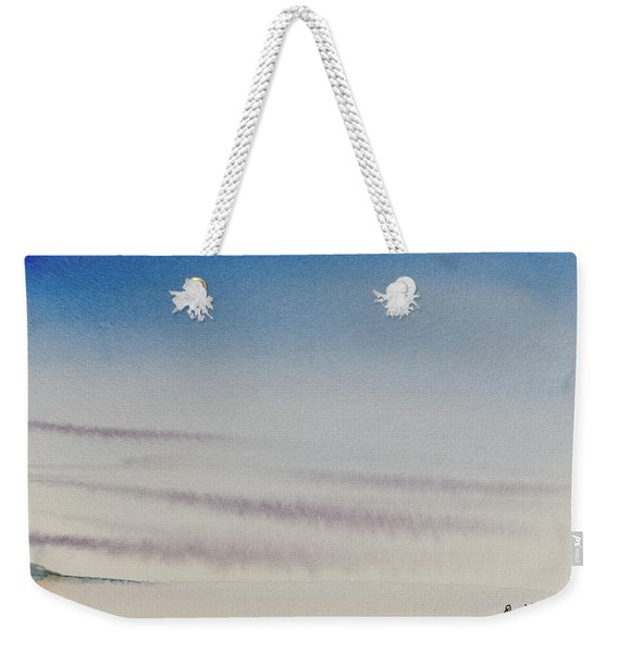 Wisps Of Clouds At Sunset Over A Calm Bay Weekender Tote Bag