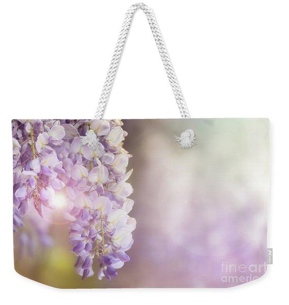Wisteria Flowers In Sunlight Weekender Tote Bag
