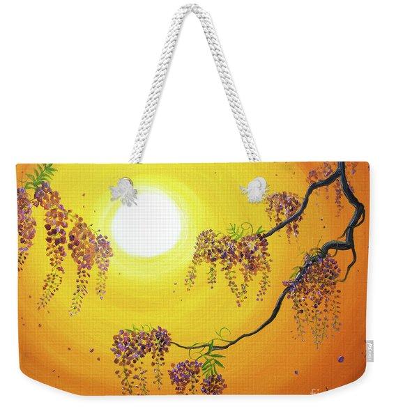 Wisteria In Golden Glow Weekender Tote Bag
