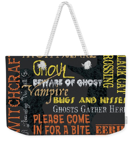 Witchcraft Typography Weekender Tote Bag