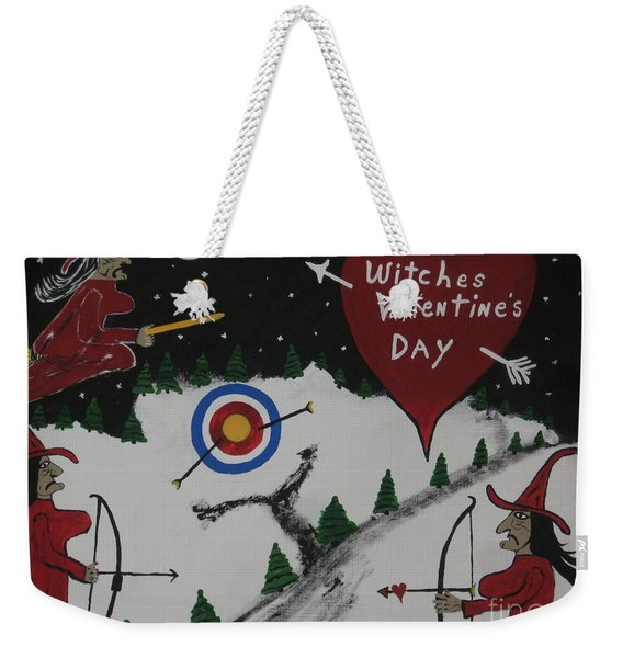 Witches Valentine's Day Weekender Tote Bag