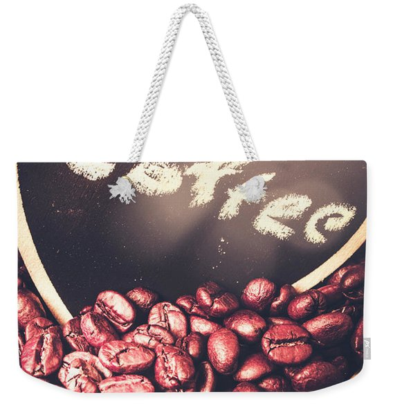 With Light And Coffee Love Weekender Tote Bag
