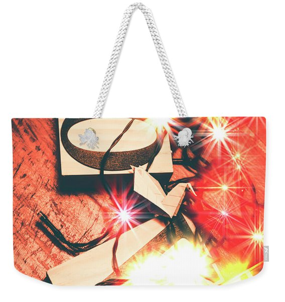With Love And Lights Weekender Tote Bag