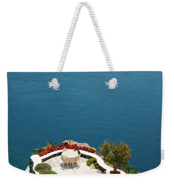 With View At The Infinite Blue Weekender Tote Bag