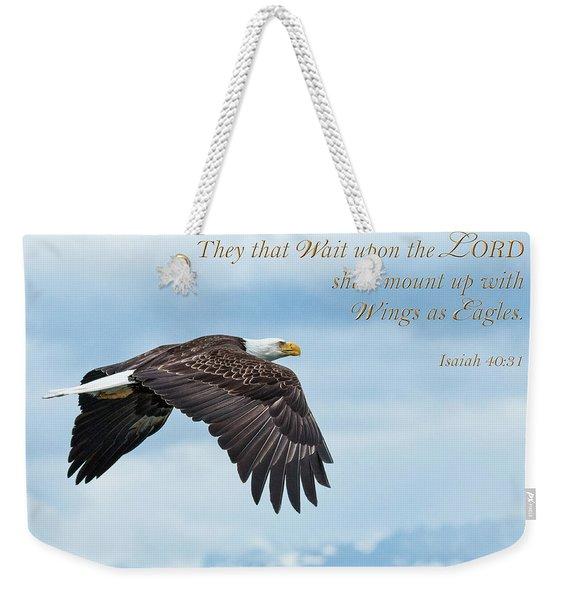 With Wings As Eagles Weekender Tote Bag