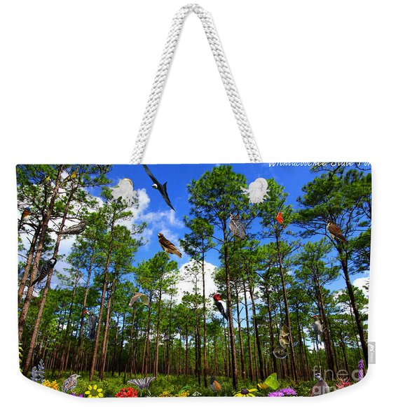 Withlacoochee State Forest Nature Collage Weekender Tote Bag
