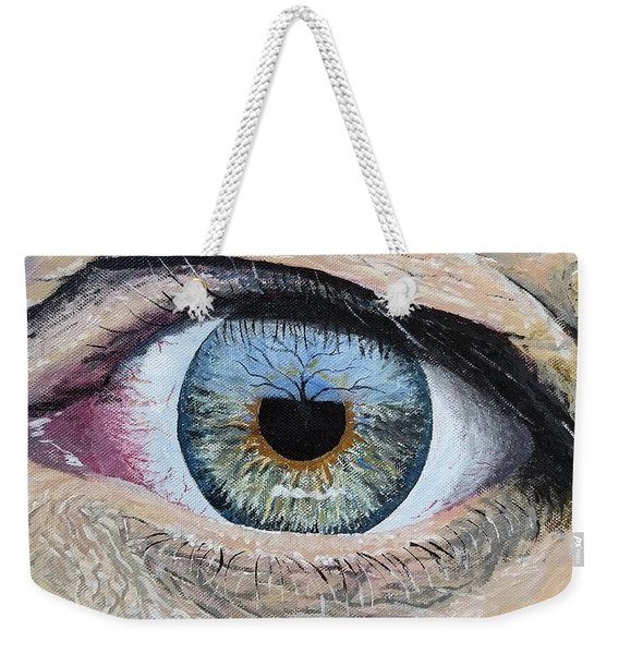 Weekender Tote Bag featuring the painting Witness by Kevin Daly