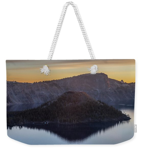 Wizard Island Morning Weekender Tote Bag
