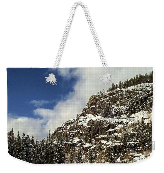 Wolf Creek Pass In Winter Weekender Tote Bag