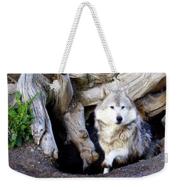 Wolf Den 1 Weekender Tote Bag