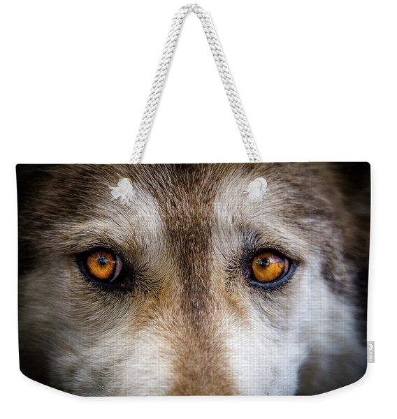 Wolf Eyes Weekender Tote Bag