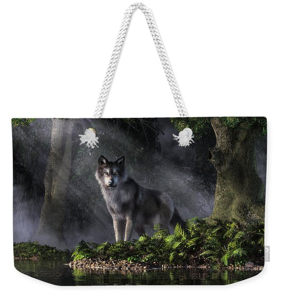 Wolf In The Forest Weekender Tote Bag
