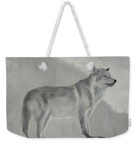 Weekender Tote Bag featuring the painting Vantage Point by Kevin Daly