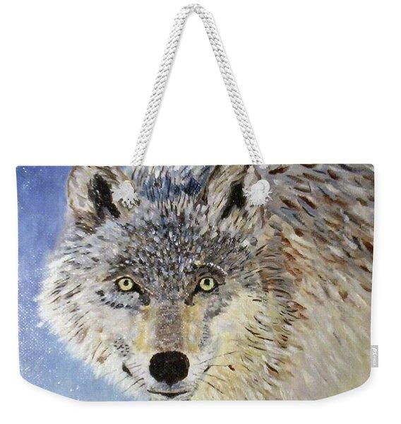 Wolf Study Weekender Tote Bag