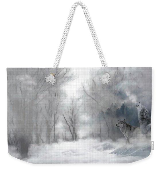 Wolves In The Mist Weekender Tote Bag