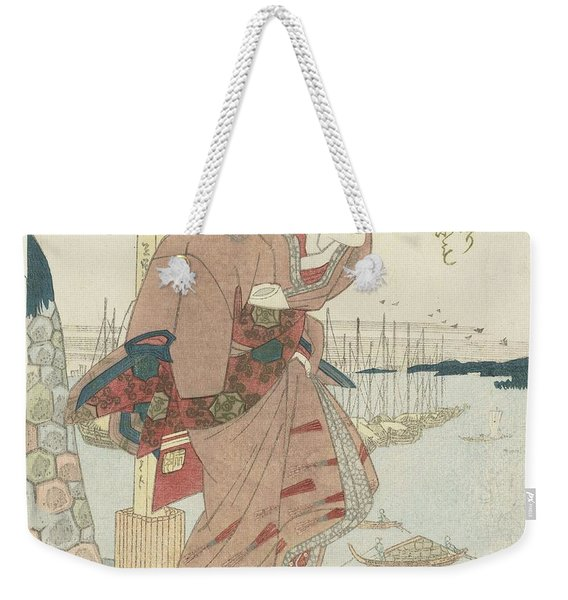 Woman At A Harbor, Utagawa Kuniyoshi, 1830 - 1835 Weekender Tote Bag